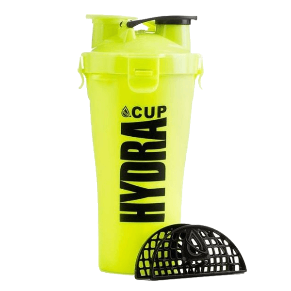 Hydra Cup – Dual Shaker Bottle 600ml Yellow Volt in Pakistan at Bravo Nutrition