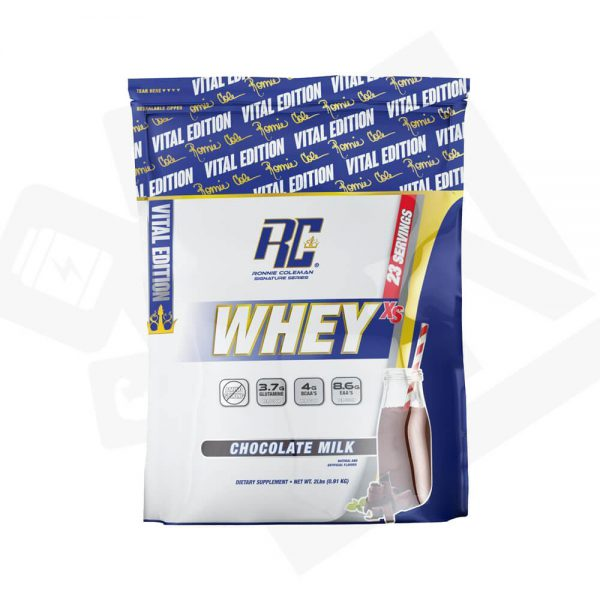 Ronnie Coleman Vital Edition Whey XS in Pakistan, Karachi, Lahore, Islamabad – Chocolate Milk flavor from Bravo Nutrition