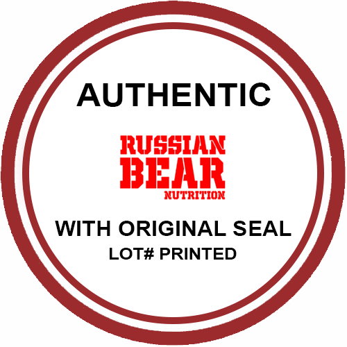 Russian Bear Nutrition Authentic & Original Seal with Lot Number Printed at Bravo Nutrition