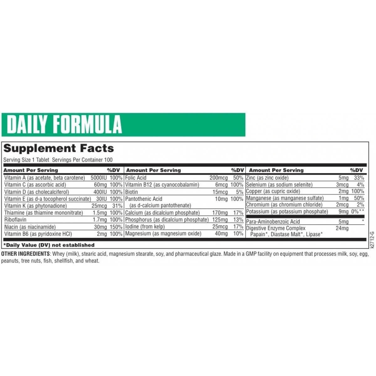 Daily Formula in Pakistan (Multivitamin) by Universal at